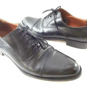Bettaccini 10.5 D Black Leather Oxford Shoes